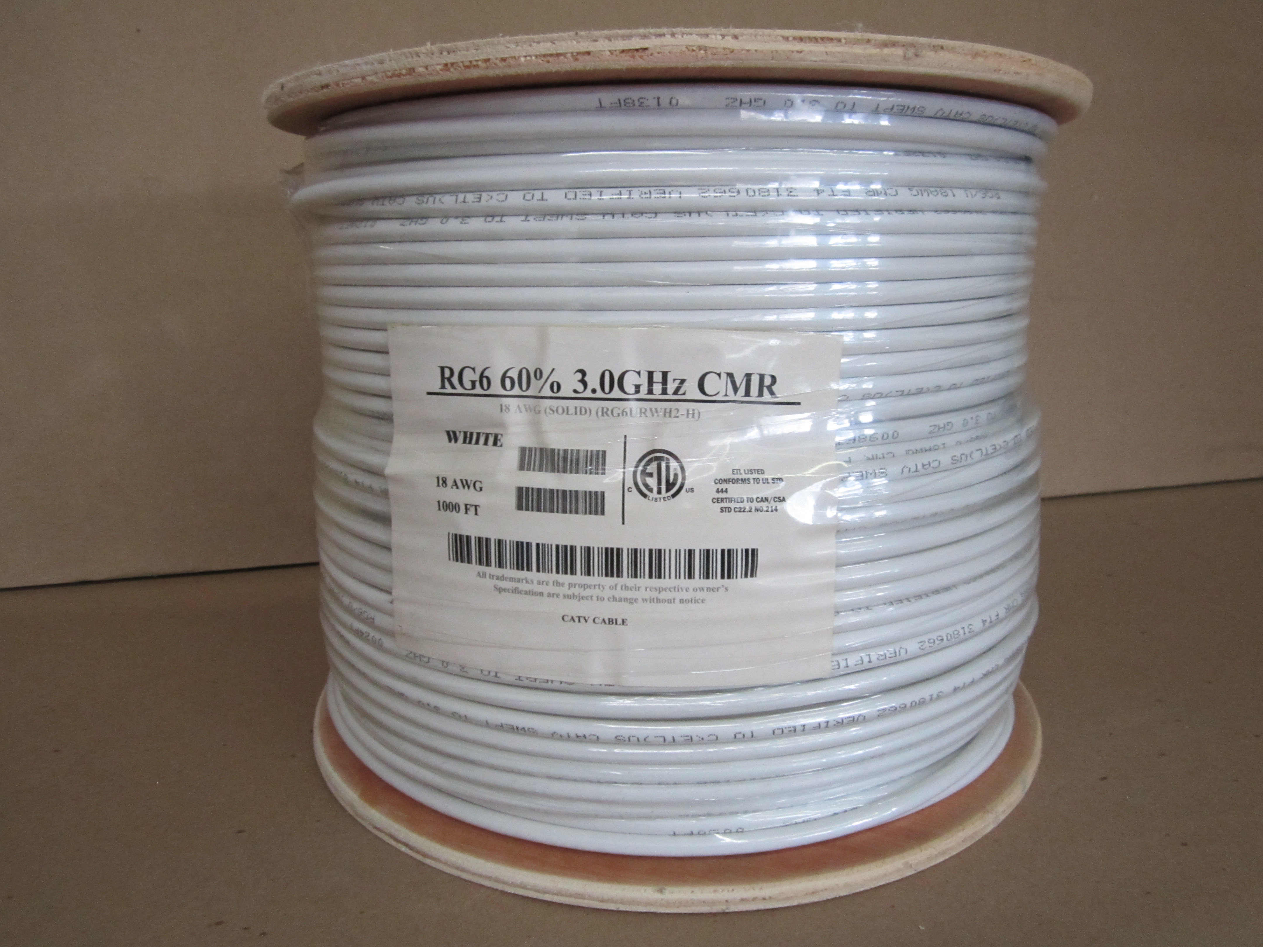 1000\' SPOOL RG6 CABLE