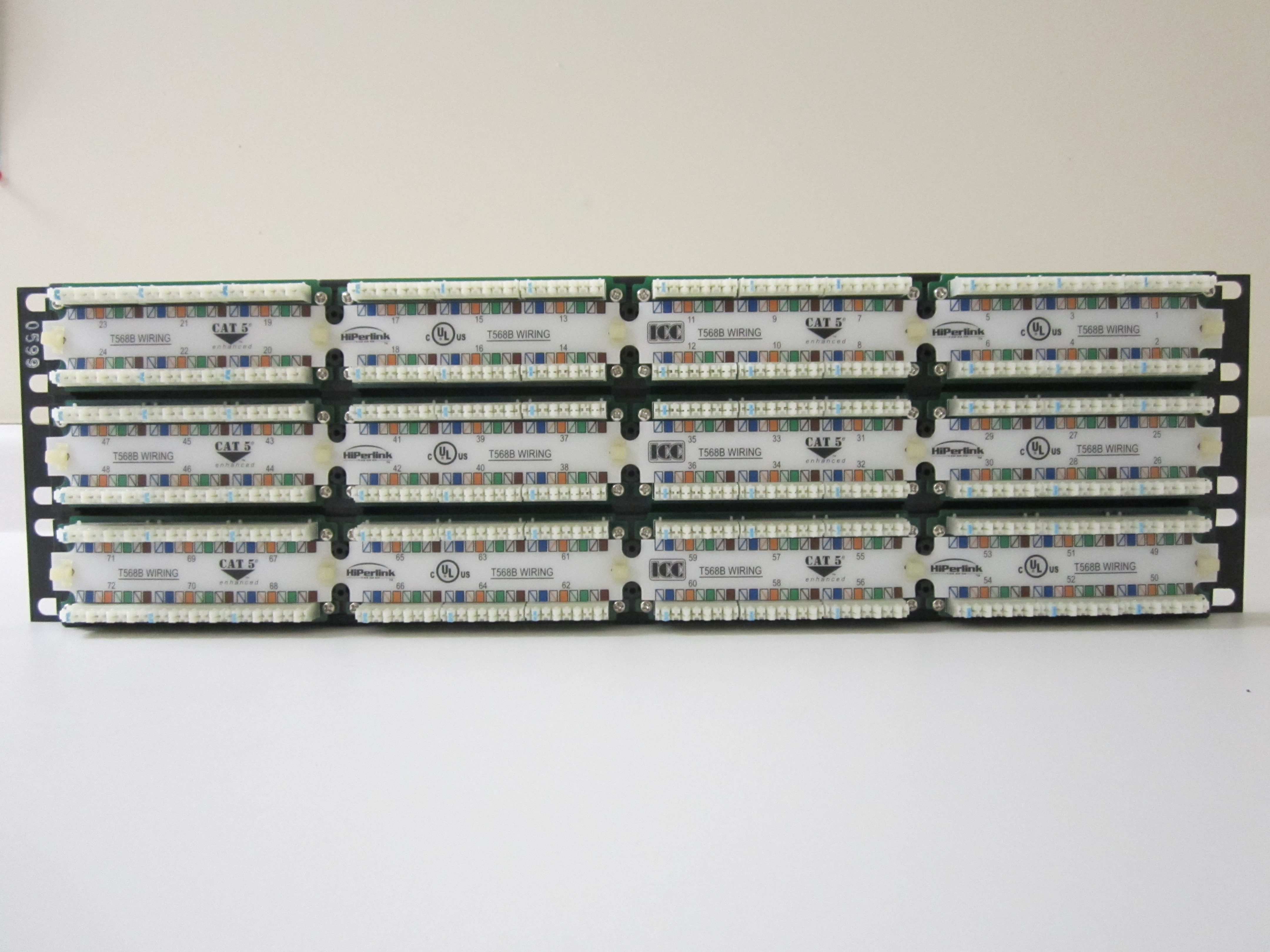 72 Port Cat 5e Patch Panel 24 6 Cable Wiring 48 Quick View
