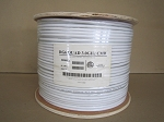 1000'  WHITE RG6 QUAD SHIELD CMR - 18AWG COAX CABLE