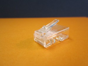 CAT 6 SOLID RJ45 CRIMP CONNECTOR
