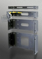 "6 SPACE ADJ 9""-15"" HINGED RACK"