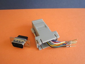 DB9(M) TO RJ45 MODULAR ADAPTER